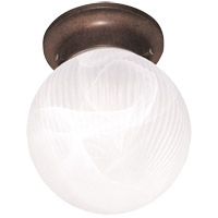 Signature 1 Light 6 inch Brownstone Flush Mount Ceiling Light