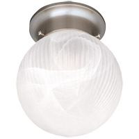 Signature 1 Light 6 inch Satin Nickel Flush Mount Ceiling Light