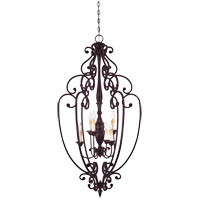 Bedford 6 Light 26 inch Distressed Bronze Foyer Ceiling Light, Open