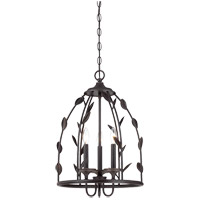 Savoy House Euclid 3 Light Foyer in Forged Black 3-1100-3-17