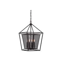 Savoy House 3-11004-4-13 Vernon 4 Light 16 inch English Bronze Foyer Lantern Ceiling Light