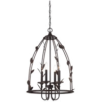 Savoy House Euclid 4 Light Foyer in Forged Black 3-1101-4-17