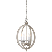 Savoy House 3-1552-4-307 Forum 4 Light 17 inch Silver Sparkle Foyer Ceiling Light