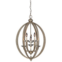 Forum 6 Light 20 inch Gold Dust Foyer Lantern Ceiling Light