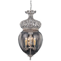 Josephine 3 Light 15 inch Silver Lace Foyer Ceiling Light in Clear Etched