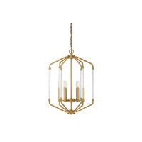 Reed 6 Light 16 inch Warm Brass Foyer Light Ceiling Light