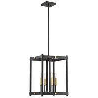 Savoy House 3-2231-4-51 Fowler 4 Light 14 inch Vintage Black with Warm Brass Hanging Lantern Ceiling Light photo thumbnail
