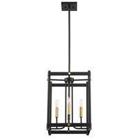 Savoy House 3-2231-4-51 Fowler 4 Light 14 inch Vintage Black with Warm Brass Hanging Lantern Ceiling Light alternative photo thumbnail