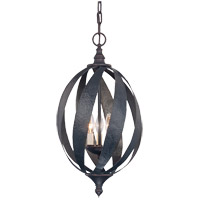 Carmel 3 Light 12 inch Slate Foyer Ceiling Light, Open