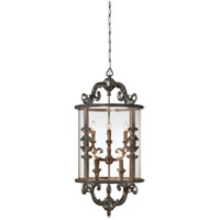Athena 8 Light 20 inch Silver Lace Foyer Ceiling Light in Clear Panel