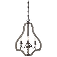 Kenwood 3 Light 18 inch Weathered Ash Foyer Lantern Ceiling Light