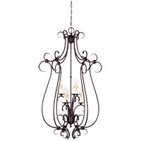 Savoy House Brandywine 6 Light Foyer Pendant in New Tortoise Shell 3-2899-6-56 photo thumbnail