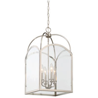 Savoy House 3-3055-4-109 Garrett 4 Light 12 inch Polished Nickel Foyer Light Ceiling Light