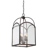 Garrett 4 Light 12 inch English Bronze Foyer Ceiling Light