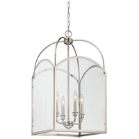 Savoy House 3-3056-4-109 Garrett 4 Light 15 inch Polished Nickel Foyer Light Ceiling Light