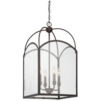 Savoy House Garrett 4 Light Pendant in English Bronze 3-3056-4-13
