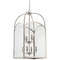 Savoy House 3-3057-8-109 Garrett 8 Light 18 inch Polished Nickel Foyer Light Ceiling Light
