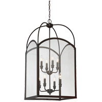 Savoy House 3-3057-8-13 Garrett 8 Light 18 inch English Bronze Foyer Light Ceiling Light