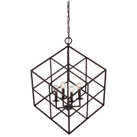 Halston 4 Light 22 inch English Bronze Pendant Ceiling Light