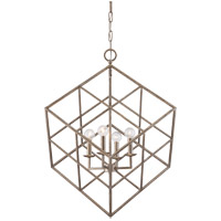 Savoy House 3-313-4-211 Halston 4 Light 22 inch Argentum Pendant Ceiling Light