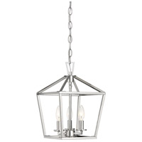 Savoy House 3-320-3-109 Townsend 3 Light 10 inch Polished Nickel Foyer Light Ceiling Light photo thumbnail