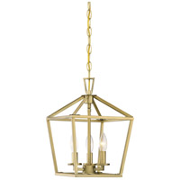 Savoy House 3-320-3-322 Townsend 3 Light 10 inch Warm Brass Foyer Light Ceiling Light