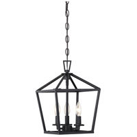 Savoy House 3-320-3-89 Townsend 3 Light 10 inch Matte Black Foyer Light Ceiling Light