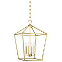 Savoy House 3-321-4-322 Townsend 4 Light 17 inch Warm Brass Foyer Light Ceiling Light