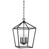Savoy House 3-321-4-89 Townsend 4 Light 17 inch Matte Black Foyer Light Ceiling Light