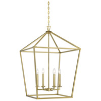 Savoy House 3-322-6-322 Townsend 6 Light 24 inch Warm Brass Foyer Light Ceiling Light