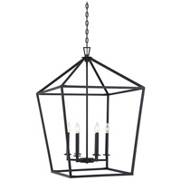 Savoy House 3-322-6-89 Townsend 6 Light 24 inch Matte Black Foyer Lantern Ceiling Light