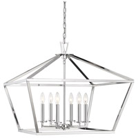 Savoy House 3-325-6-109 Townsend 6 Light 26 inch Polished Nickel Hanging Lantern Ceiling Light