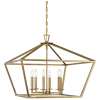 Savoy House 3-325-6-322 Townsend 6 Light 26 inch Warm Brass Hanging Lantern Ceiling Light