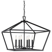 Savoy House 3-325-6-89 Townsend 6 Light 26 inch Matte Black Hanging Lantern Ceiling Light