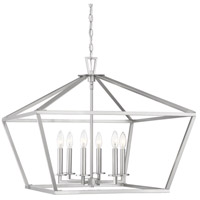 Savoy House 3-325-6-SN Townsend 6 Light 26 inch Satin Nickel Hanging Lantern Ceiling Light