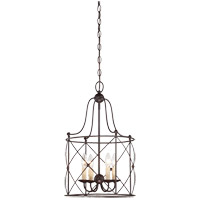 Savoy House Seneca 4 Light Foyer in English Bronze 3-4070-4-13