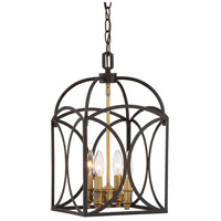 Talbot 4 Light 10 inch English Bronze and Warm Brass Foyer Ceiling Light
