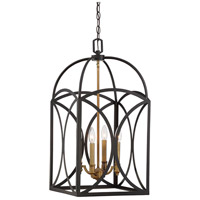 Talbot 4 Light 14 inch English Bronze/Warm Brass Foyer Ceiling Light