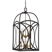 Savoy House 3-4082-8-79 Talbot 8 Light 18 inch English Bronze and Warm Brass Foyer Light Ceiling Light, Large