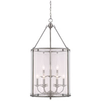 Savoy House Foxcroft 9 Light Foyer Pendant in Brushed Pewter 3-4152-9-187