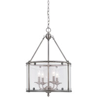 Savoy House Foxcroft 4 Light Foyer Pendant in Brushed Pewter 3-4153-4-187