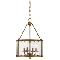 Savoy House Foxcroft 4 Light Foyer in Aged Brass 3-4153-4-291