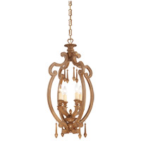 Savoy House Bellemeade 4 Light Foyer Pendant in Aged Wood 3-4272-4-254