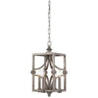Structure 4 Light 9 inch Aged Steel Foyer Ceiling Light