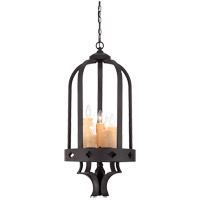 Savoy House Torre 5 Light Foyer in Forged Black 3-4401-5-17