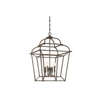 Howell 4 Light 14 inch Artisan Rust Foyer Light Ceiling Light