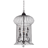 Abagail 6 Light 22 inch Forged Black Foyer Ceiling Light