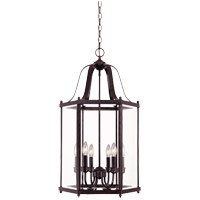 Savoy House Signature 6 Light Foyer Pendant in English Bronze 3-7246-6-13