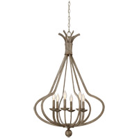 Rosette 6 Light 24 inch Chateau Linen Foyer Ceiling Light