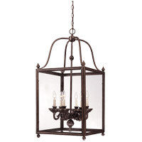 Savoy House 3-80024-6-323 Crabapple 6 Light 17 inch Old Bronze Foyer Ceiling Light photo thumbnail